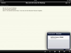 Airprint iPad